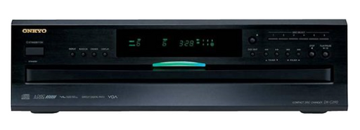 Onkyo - 6-Disc CD Player - Black