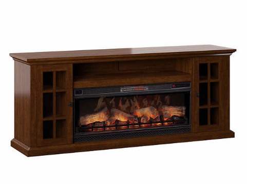 "Up to 75"" TV Console with  Flame Electric Fireplace"