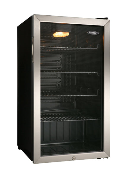 Danby 128 Can Beverage Center, Black and Stainless Steel