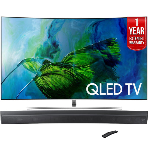 Samsung QN65Q8C Curved 65-Inch 4K Ultra HD Smart QLED TV (2017 Model) + HW-MS6500/ZA Sound+ Curved Premium Soundbar
