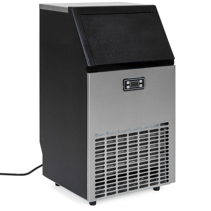 Best Choice Products Portable Stainless Steel Commercial Ice Maker w/ Scooper, Timer & Auto Clean, Produces 99lbs Daily