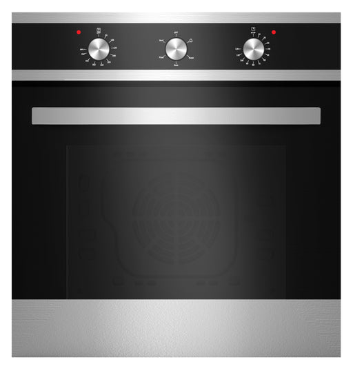 Empava 24 in Electric Built-In Wall Oven with Tempered Glass in Black/Silver