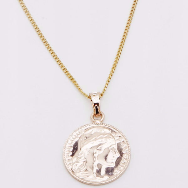Gold Mini Lucky Coin Pendant - Le Petit Gift Co.