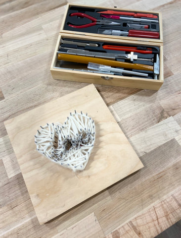 DIY String Art Heart with Excel Blades tool kit