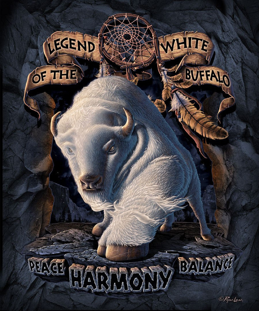 white buffalo blanket