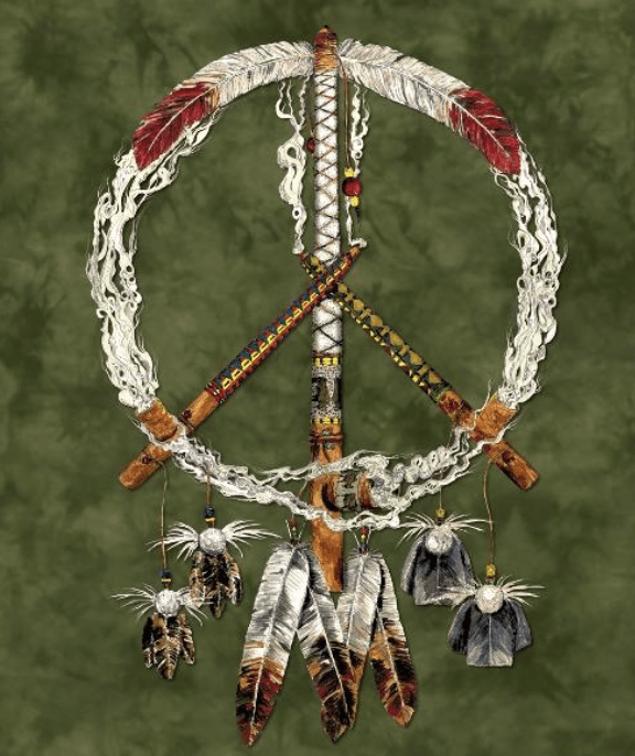 Peace Pipes Mink Blanket