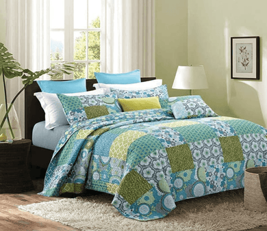 Kyoto Printed Patchwork Quilt Sets