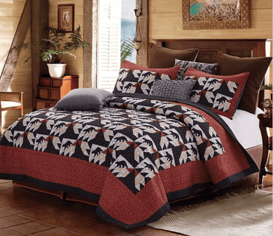 Birds in the Air/ Bear Quilt Set