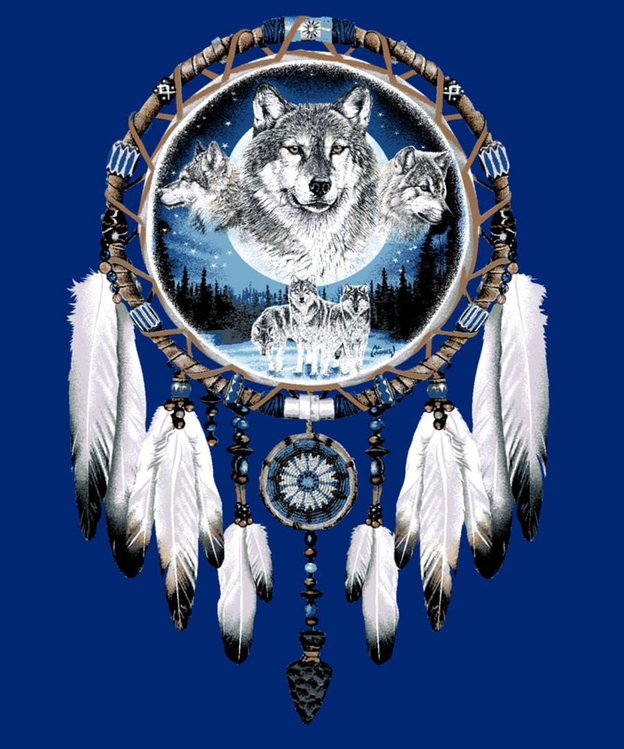 Wolf Dream Catcher Blanket