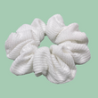 White Winter cord Scrunchie - 2 left