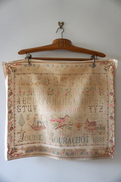 1899 Antique French Sampler