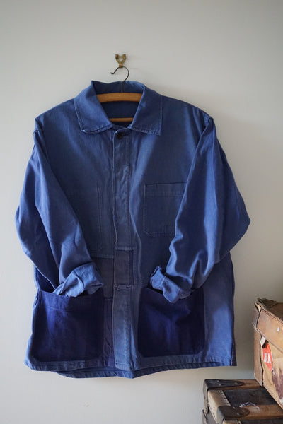 Antique French Indigo Workwear Jacket
