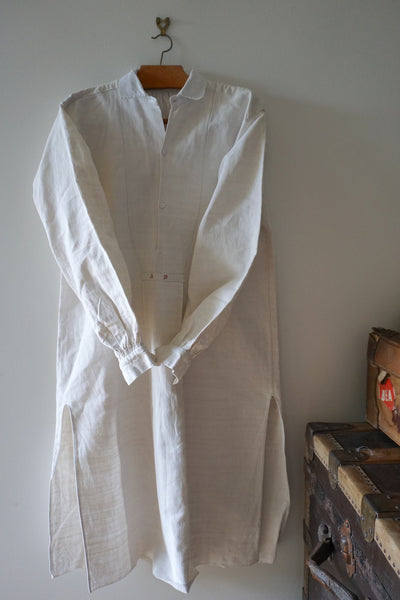 Antique French Long Linen Shirt 'AB'