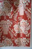 Antique French piece of flower basket cotton fabric 50x50cm