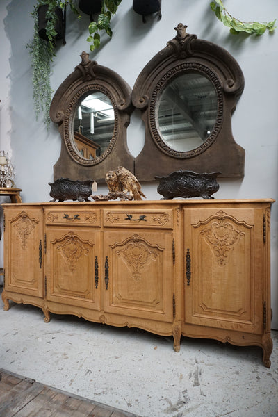 Antique French 4 Door 2 Drawer Sideboard