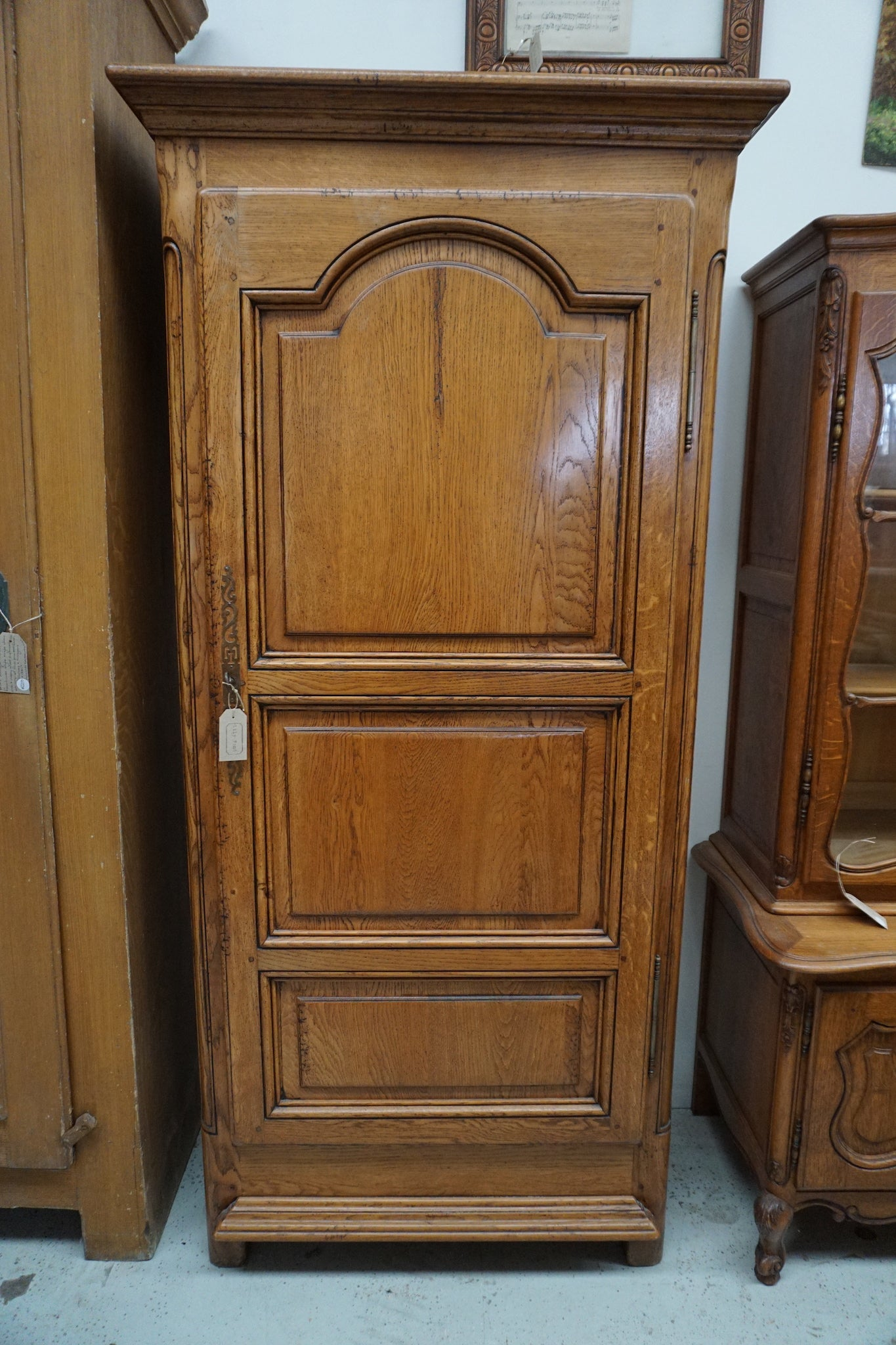 Vintage French Oak Bonnetiere