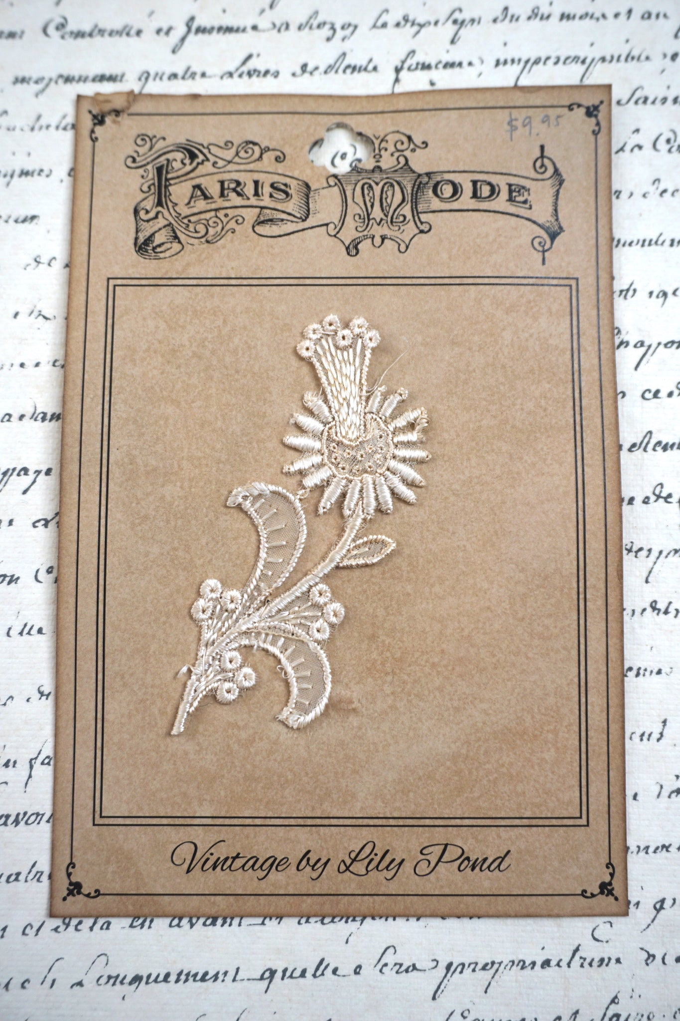 Antique French Flower Insert