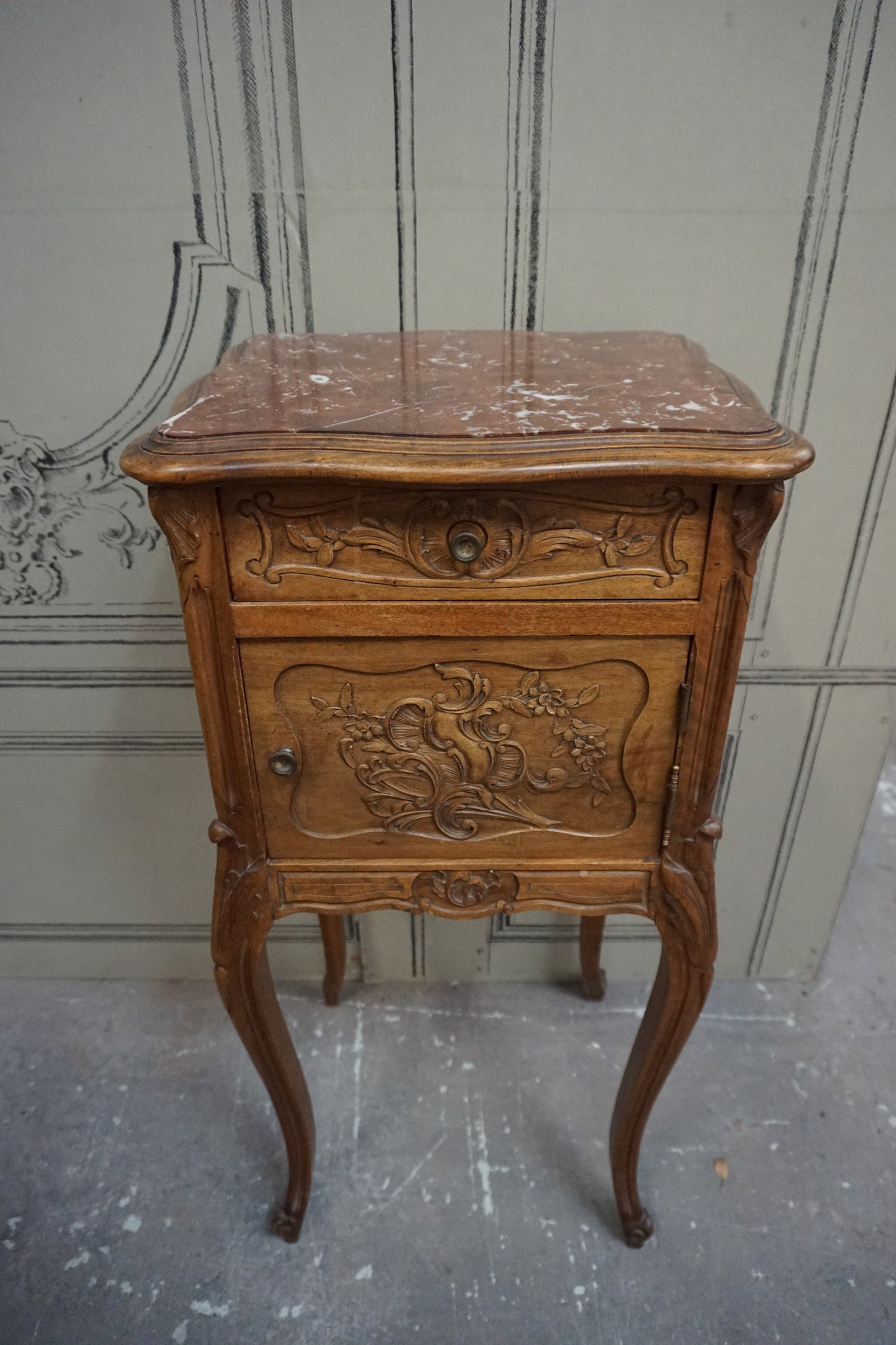 Antique French Louis VX Style Bedside Table