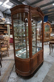 Antique French Display Case with Curved Sides