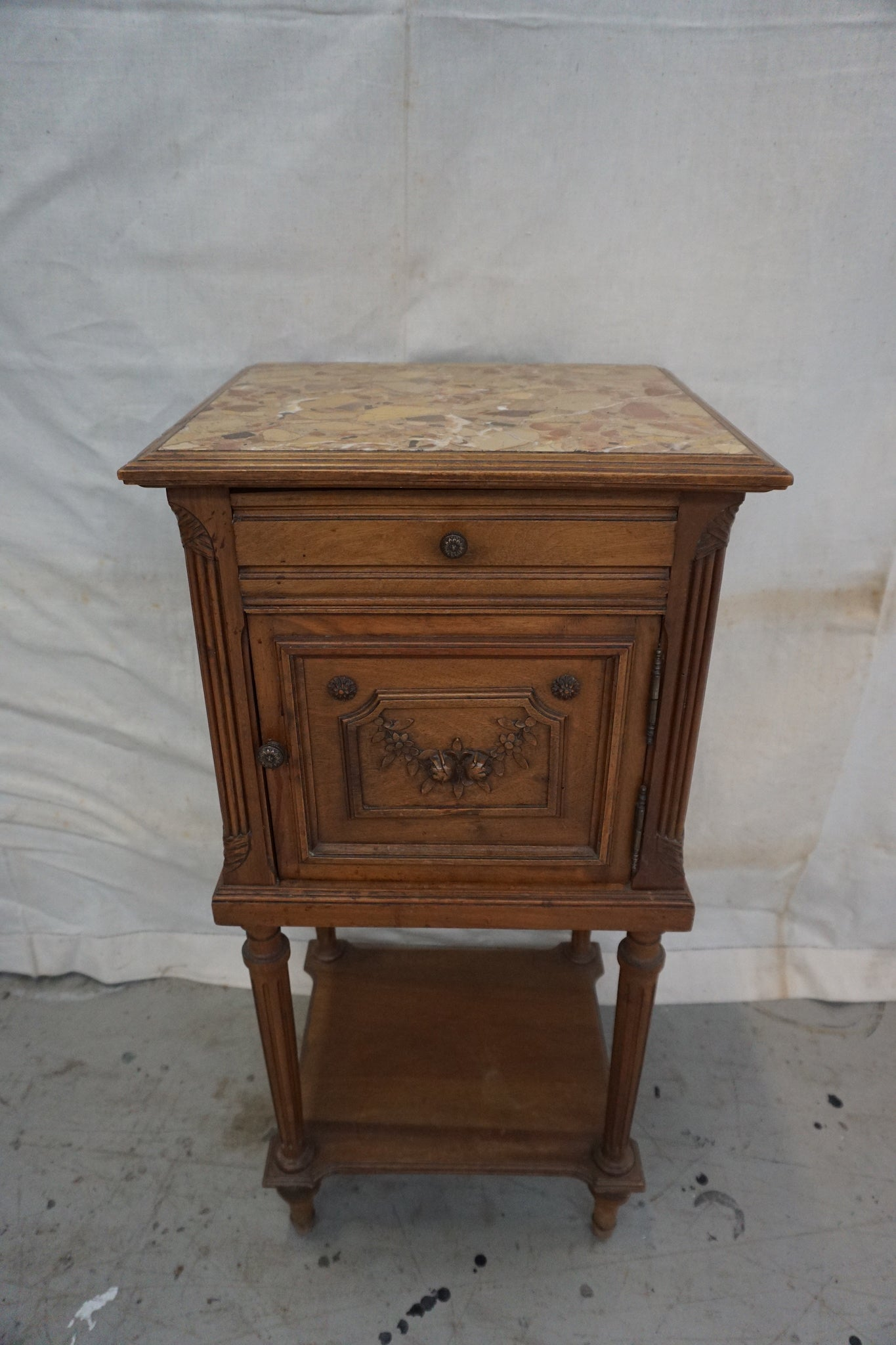 Antique French Louis XV Bedside Table