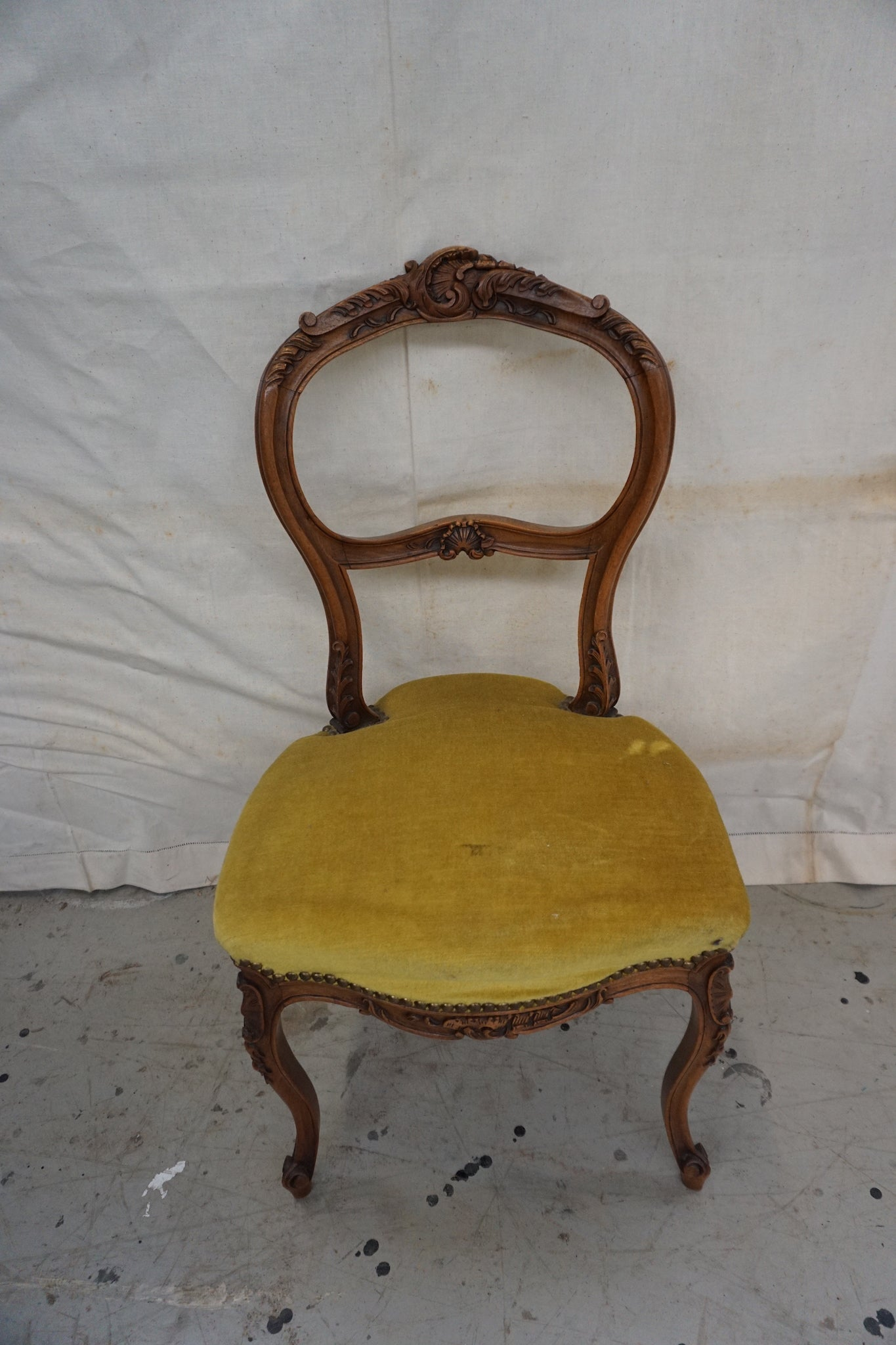 Antique French Louis XV Boudoir Chair