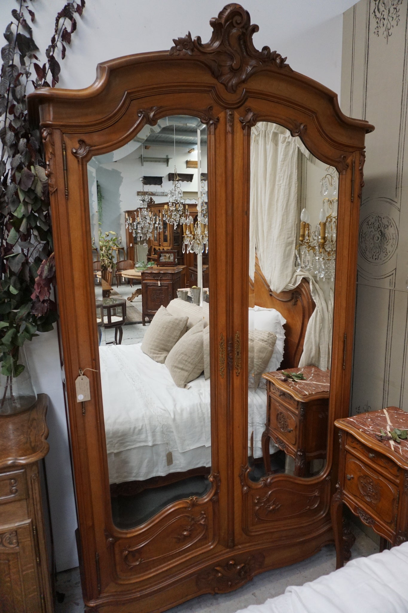 Antique French Walnut Louis XV Armoire – Lily Pond