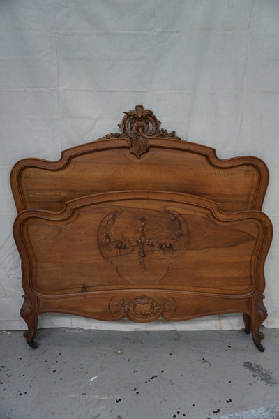 Antique French Louis XV Style Double Bed