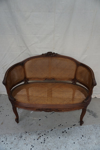 Antique French Louis XV Style Rattan Canape