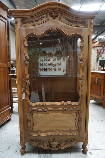 Antique French Louis XV Single Door Vitrine