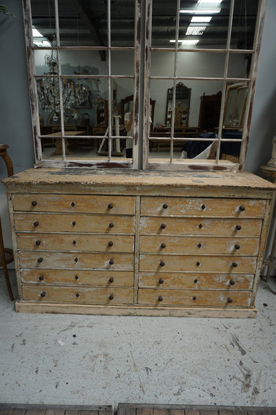 Antique French Napoleon III Chest of 12 Drawers