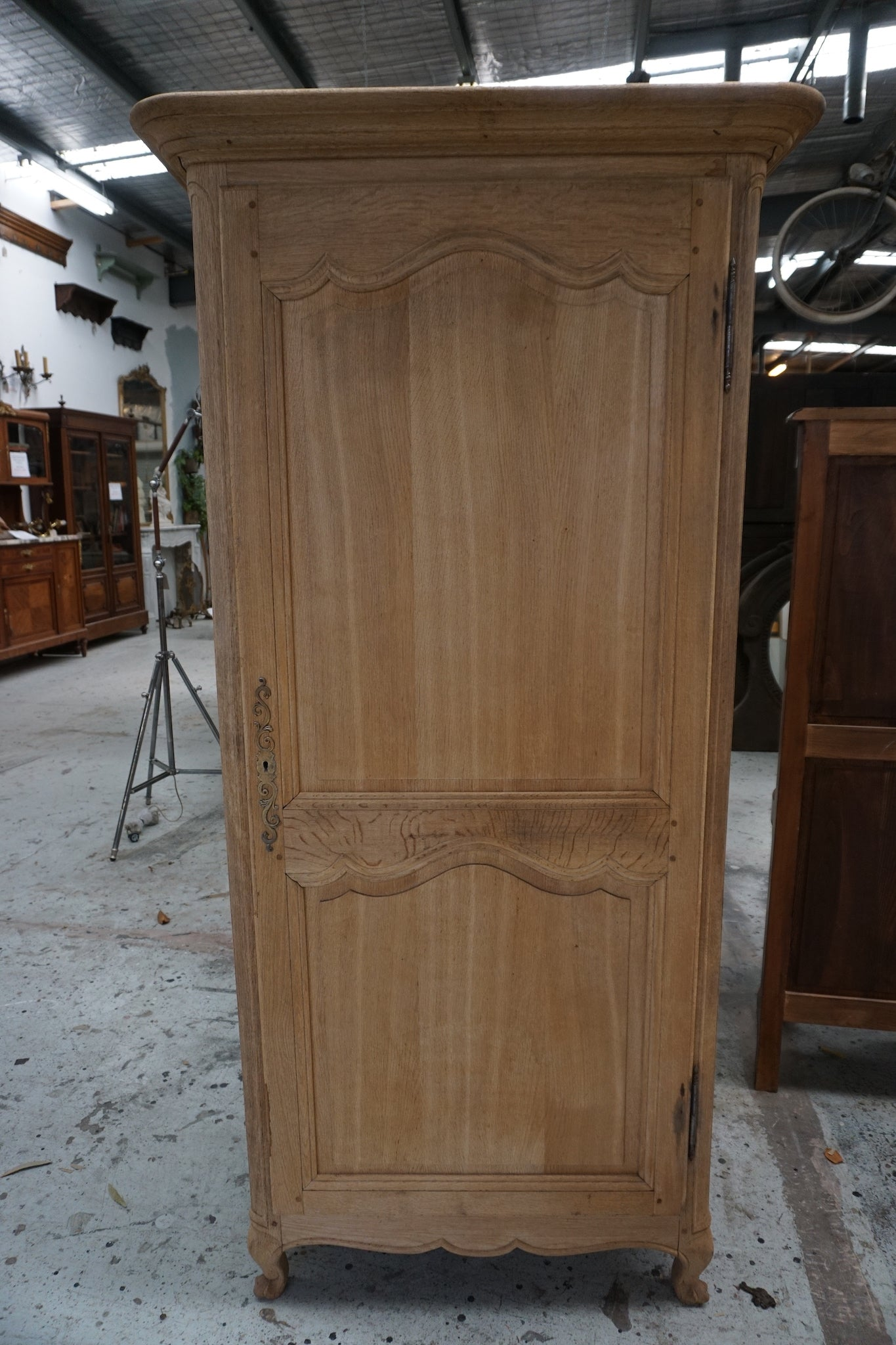 Antique French Oak Bonnetiere