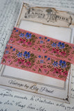 Antique French Pink Silk Floral Ribbon