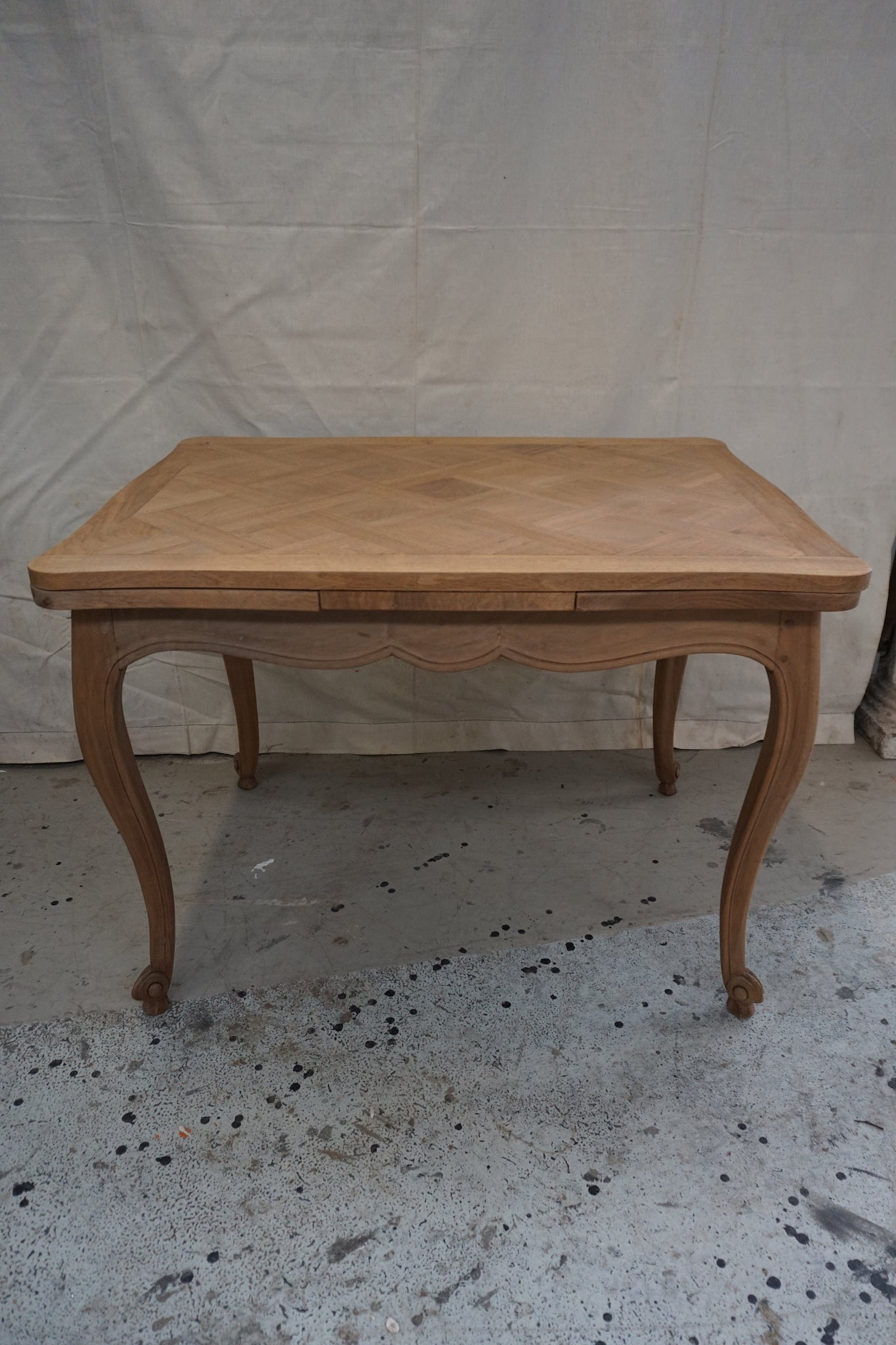 Antique French Walnut Extension Dining Table