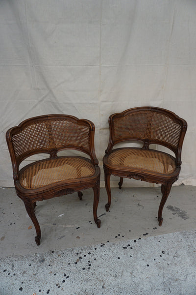 Antique French Walnut Salon Chair