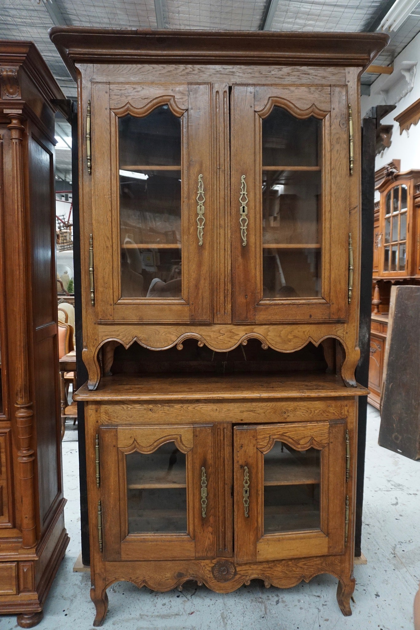 Antique French Farmhouse Vitrine