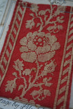 Antique French Red Cotton Wild Rose Braid