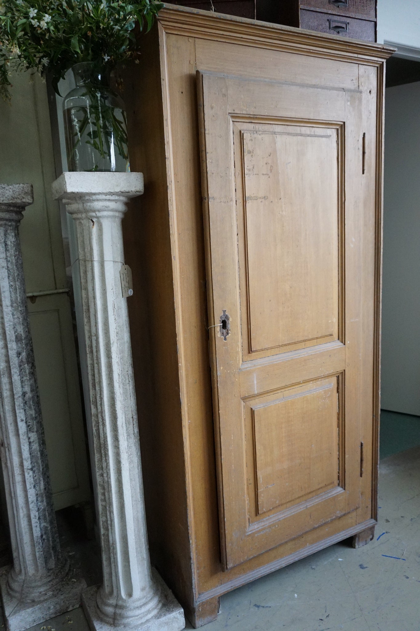 Antique French Single Door Farmhouse Cupboard