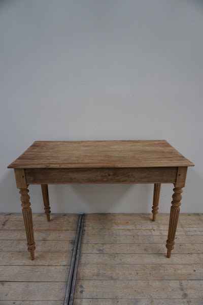 Antique French Beech and Cherrywood Table