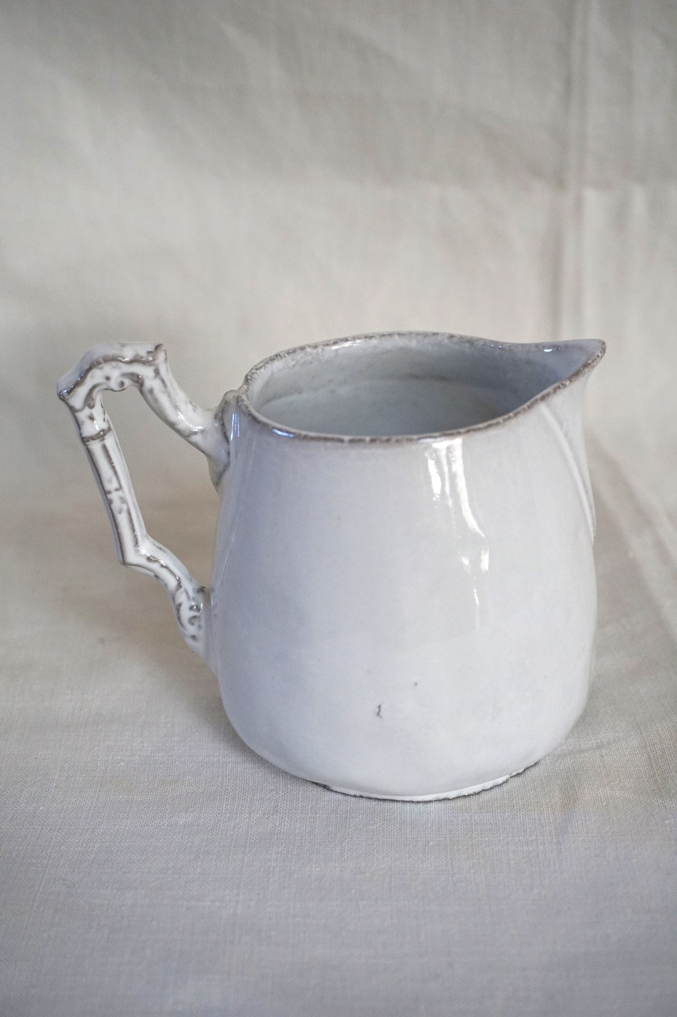 Astier de Villatte Kiwi Cream Pitcher