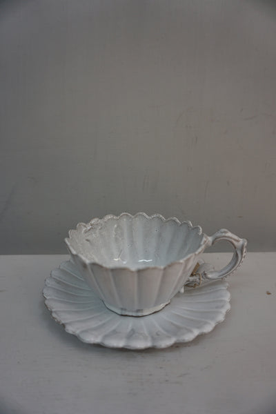 Astier de Villatte Marguerite Tea Cup and Saucer
