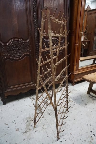 Antique French Bottle Rack