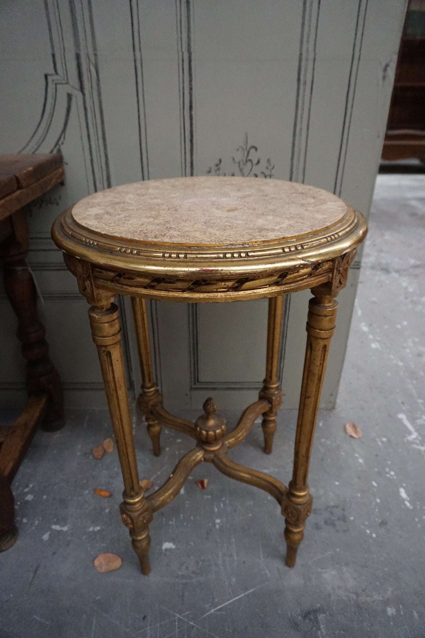 Antique French Gilt Side Table