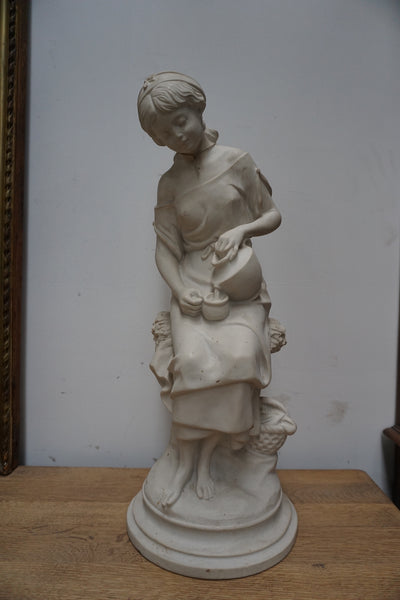 Antique French Marble Statue