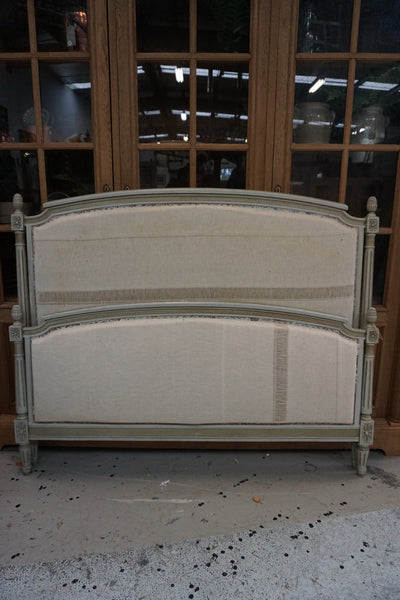 Antique French Queen Size Padded Bed