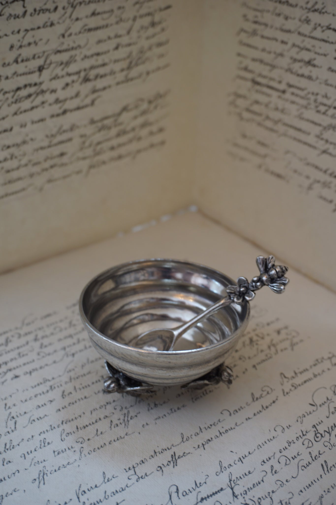 Pewter Honey Pot & Spoon