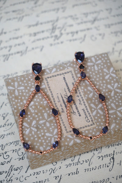 Italian iolite teardrop earrings