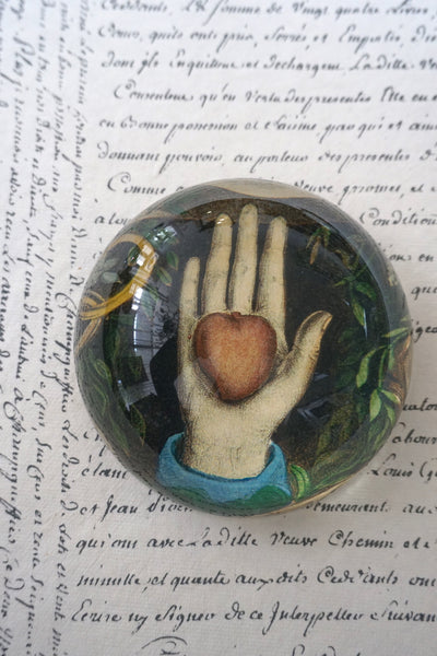 John Derian 'Heart in Hand' paperweight