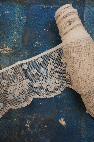 Antique French Extra Large Lace