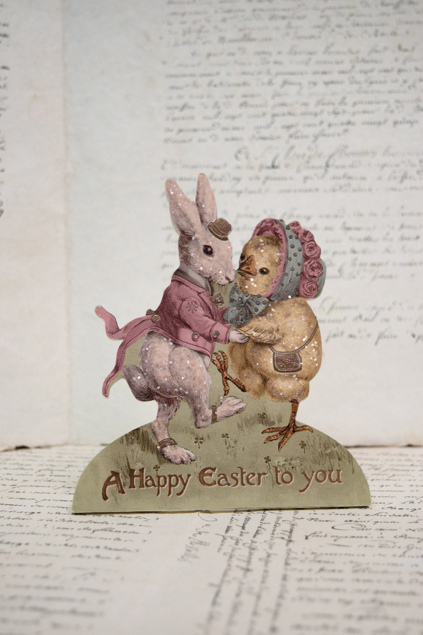 Nostalgic 'Happy Easter to You' Standing Decoration