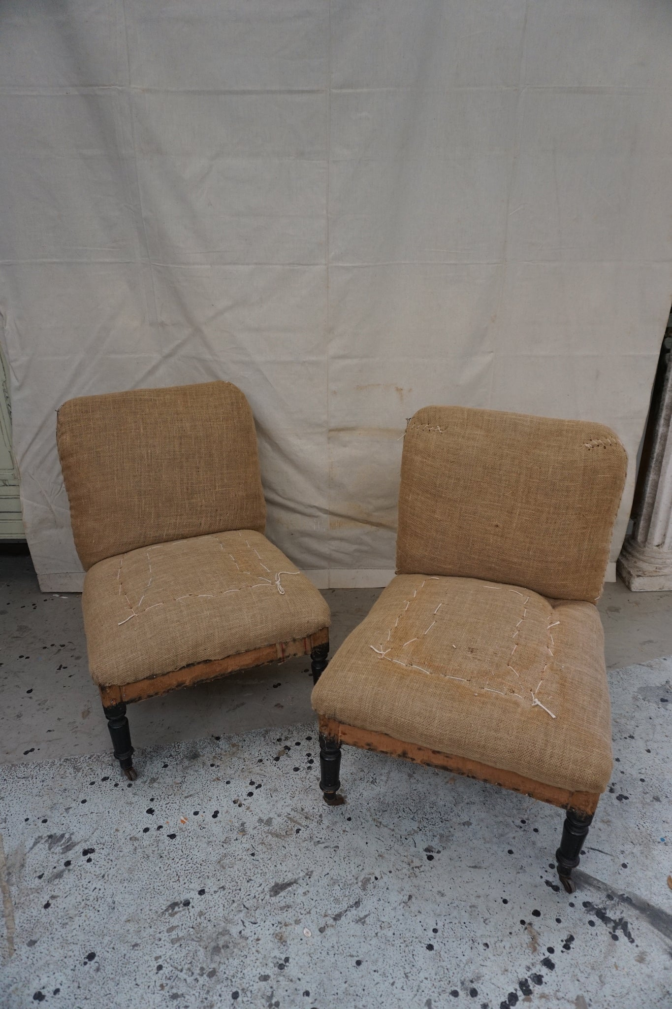Pair of Antique French Fireside Chairs